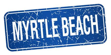 myrtle beach: Myrtle Beach blue stamp isolated on white background