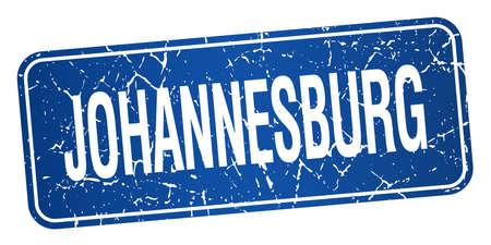 johannesburg: Johannesburg blue stamp isolated on white background