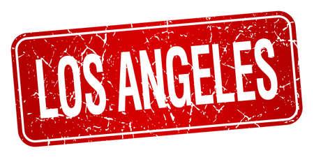 los angeles: Los Angeles roten Stempel isoliert auf wei�em Hintergrund Illustration