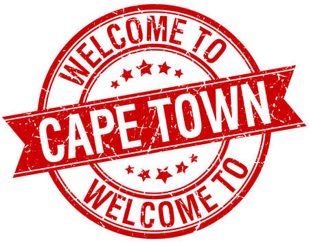 cape town: welcome to Cape Town red round ribbon stamp