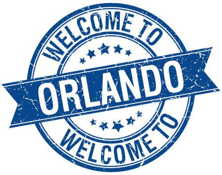 orlando: welcome to Orlando blue round ribbon stamp