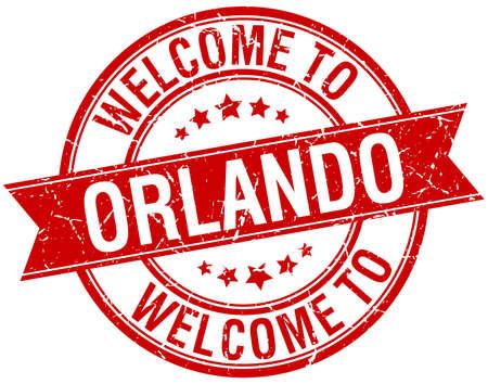 orlando: welcome to Orlando red round ribbon stamp