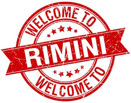 rimini: welcome to Rimini red round ribbon stamp