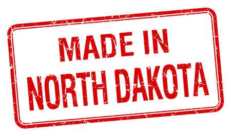 north dakota: made in North Dakota red square isolated stamp