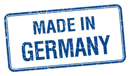 made in germany: made in Germany blue square isolated stamp Illustration