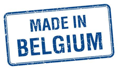 made in belgium: made in Belgium blue square isolated stamp