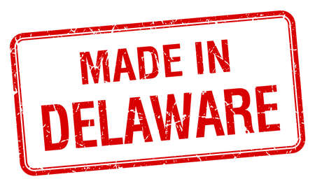 delaware: made in Delaware red square isolated stamp