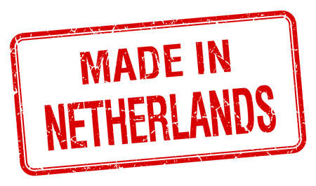 made in netherlands: made in Netherlands red square isolated stamp
