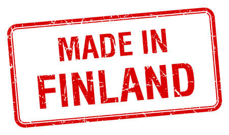 made in finland: made in Finland red square isolated stamp