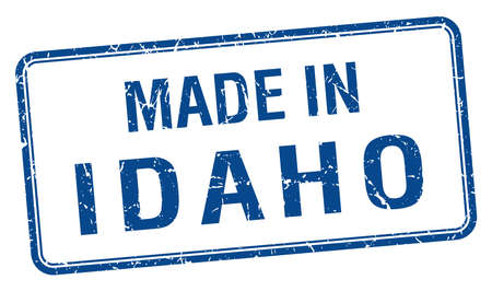 idaho: made in Idaho blue square isolated stamp
