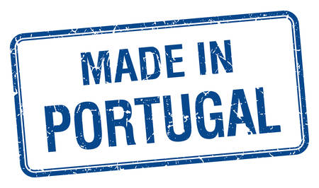 made in portugal: made in Portugal blue square isolated stamp Illustration