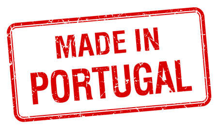 made in portugal: made in Portugal red square isolated stamp Illustration