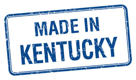 kentucky: made in Kentucky blue square isolated stamp
