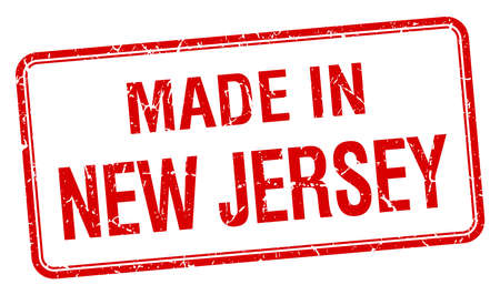new jersey: made in New Jersey red square isolated stamp