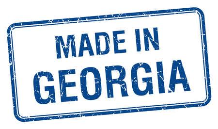 georgia: made in Georgia blue square isolated stamp