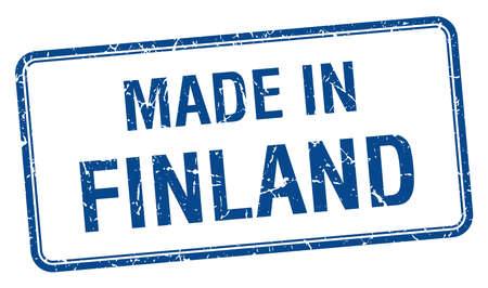 made in finland: made in Finland blue square isolated stamp