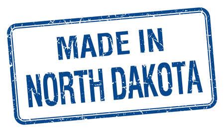 north dakota: made in North Dakota blue square isolated stamp