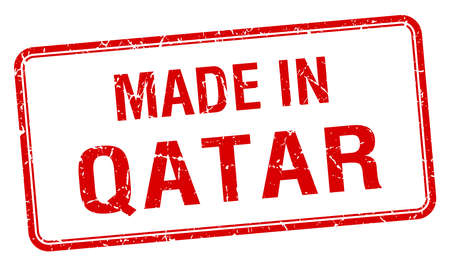 qatar: made in Qatar red square isolated stamp