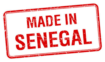 senegal: made in Senegal red square isolated stamp