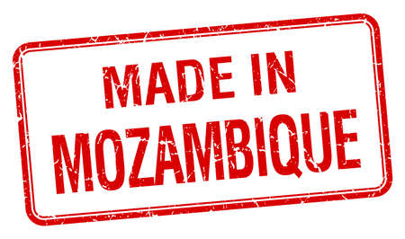 mozambique: made in Mozambique red square isolated stamp