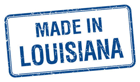 louisiana: made in Louisiana blue square isolated stamp