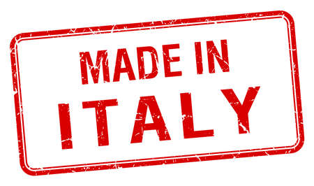 made in italy: made in Italy red square isolated stamp