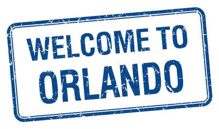 orlando: welcome to Orlando blue grunge square stamp