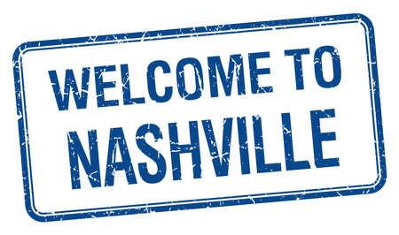 nashville: welcome to Nashville blue grunge square stamp