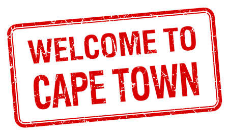 cape town: welcome to Cape Town red grunge square stamp