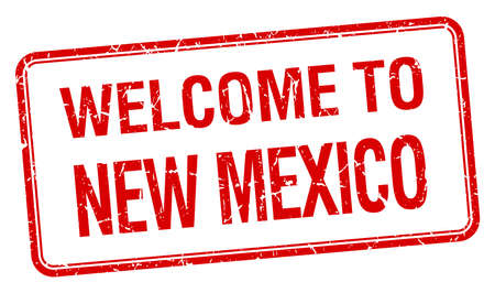 new mexico: welcome to New Mexico red grunge square stamp Illustration