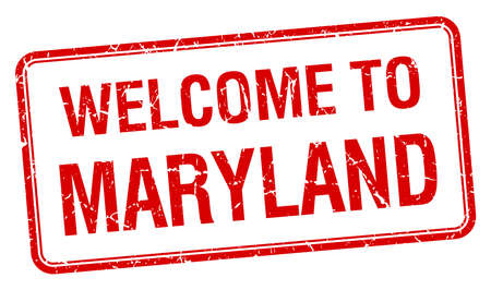 maryland: welcome to Maryland red grunge square stamp Illustration