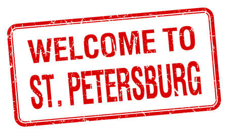 st petersburg: welcome to St Petersburg red grunge square stamp Illustration