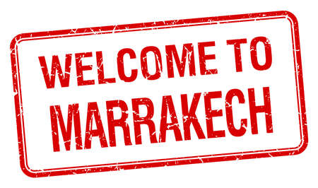 marrakech: welcome to Marrakech red grunge square stamp Illustration