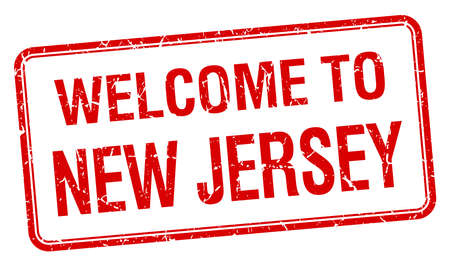 new jersey: welcome to New Jersey red grunge square stamp Illustration