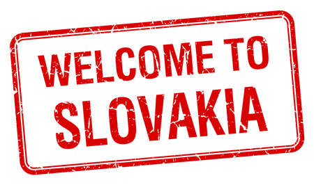 slovakia: welcome to Slovakia red grunge square stamp
