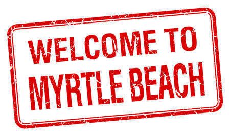myrtle beach: welcome to Myrtle Beach red grunge square stamp