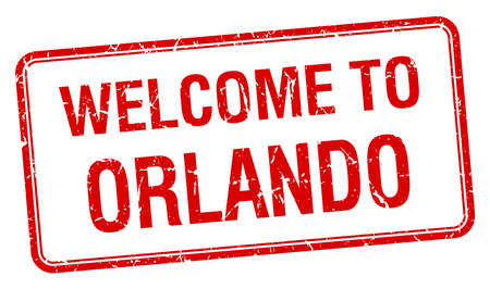 orlando: welcome to Orlando red grunge square stamp