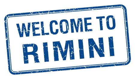 rimini: welcome to Rimini blue grunge square stamp
