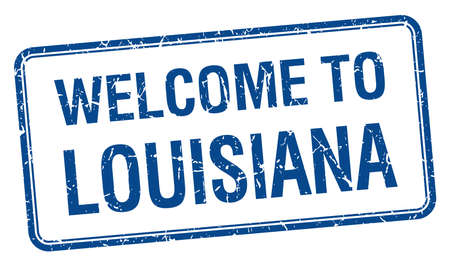 louisiana: welcome to Louisiana blue grunge square stamp Illustration