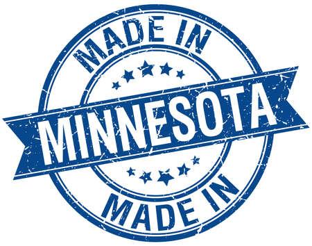 em: feita em Minnesota azul rodada selo do vintage