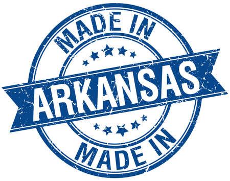 arkansas: made in Arkansas blue round vintage stamp