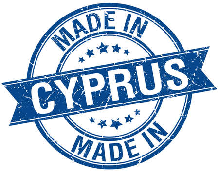 cyprus: made in Cyprus blue round vintage stamp Illustration