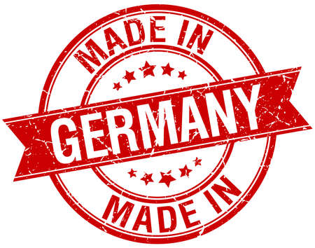 made in germany: made in Germany red round vintage stamp Illustration