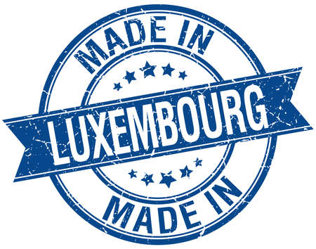 gemaakt in Luxemburg blauwe ronde vintage stempel