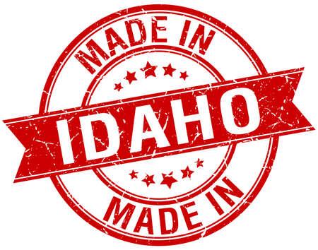 idaho: made in Idaho red round vintage stamp