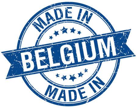 made in belgium: made in Belgium blue round vintage stamp