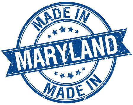 maryland: made in Maryland blue round vintage stamp Illustration