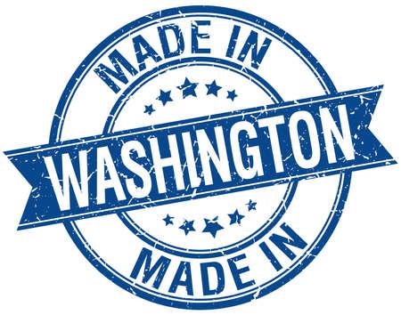 em: feito em Washington azul rodada selo do vintage