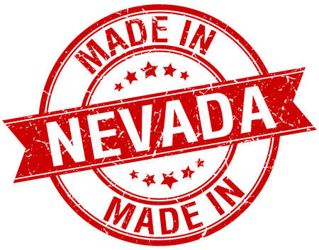 nevada: made in Nevada red round vintage stamp