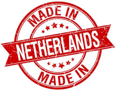 made in netherlands: made in Netherlands red round vintage stamp Illustration